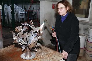 Sculpture métal 2m