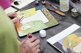 peinture sur porcelaine 1m